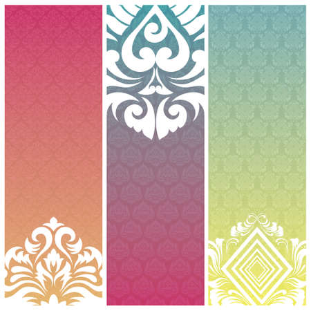 Three Banner Pattern  Vector