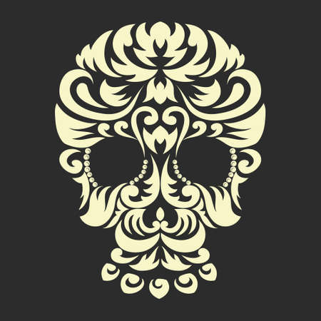 Decorative Ornament Skull  Vector