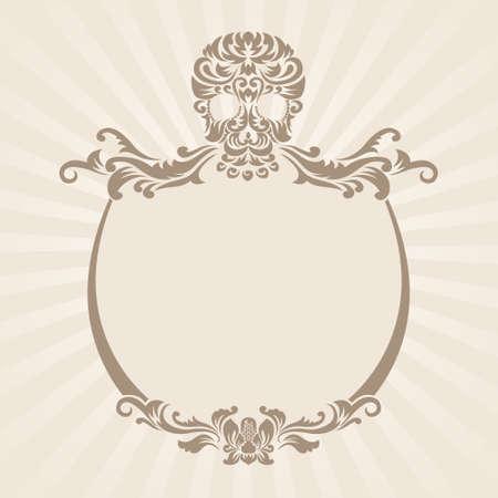 Schedel Ornament Frame