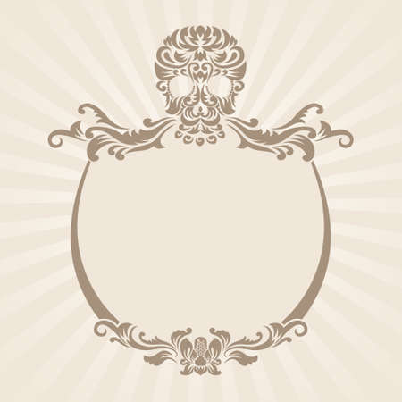 Skull Ornament Frame