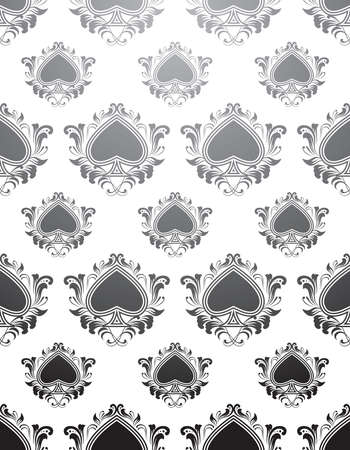 Black Spades Pattern  Vector