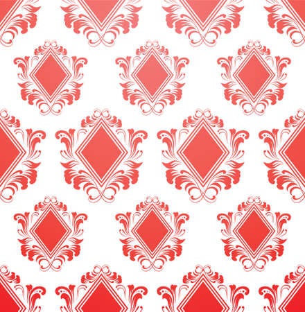 Red Diamond Pattern