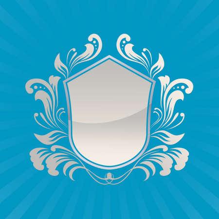 Schild Ornament Stock Illustratie