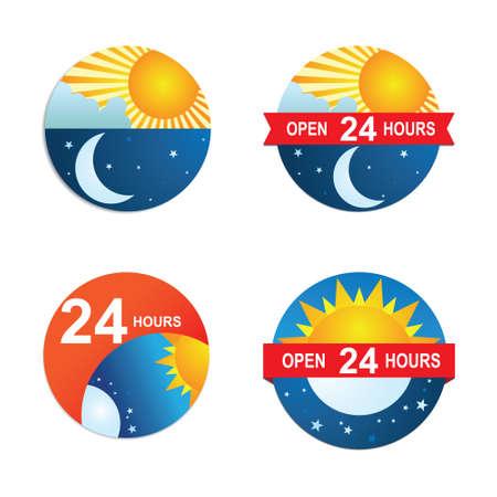 24 Hours  Ilustração