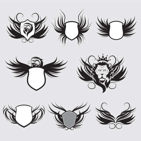 Shield Vector Set  Vector