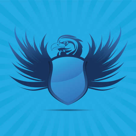 great seal: Blue Shield Aquila Vettoriali