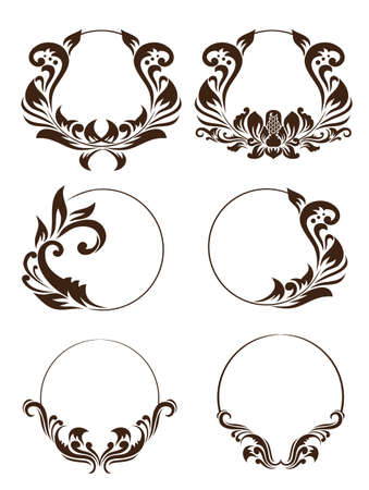 grecas: Círculo conjunto de ornamento Vectores