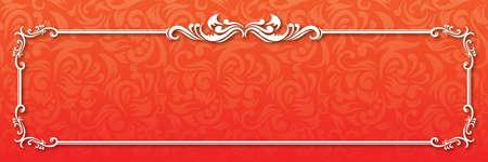 Ornamental Orange Banner  Illustration