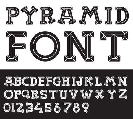 Pyramid Font  Illustration