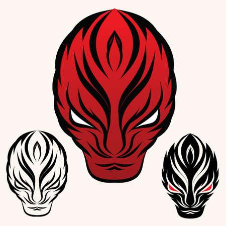 poisonous organism: fire face Illustration
