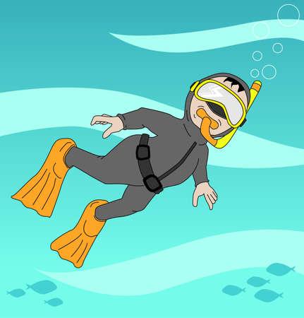 Snorkeling Stock Vector - 20337227