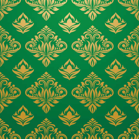 Gold and Green Pattern  Illustration