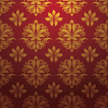 Gold and Red Pattern  Ilustração