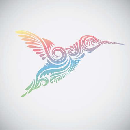 hummingbird: Hummingbird Ornamental illustration