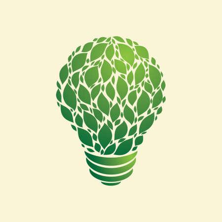 Green Light Bulb  Illustration