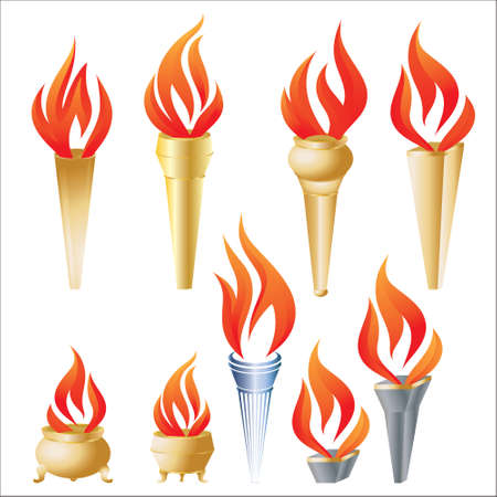 Torch Vector Set  Illustration