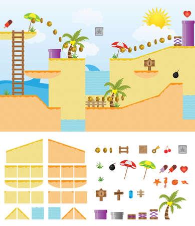 Platform Game Summer Beach