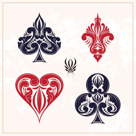 playing card set symbols: Ornamental Playing Card