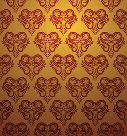 Love Ornamental Pattern  Illustration