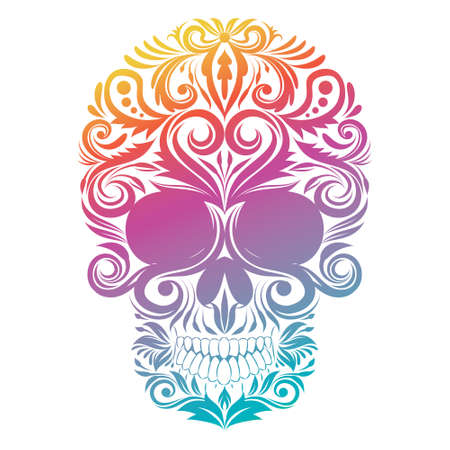 Floral Decorative Skull  Stock Vector - 27377009