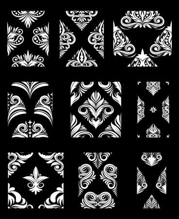 indonesia culture: Ornamental Pattern Set  Illustration