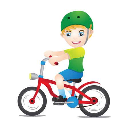 niños en bicicleta: Bicicletas muchachos que usan casco
