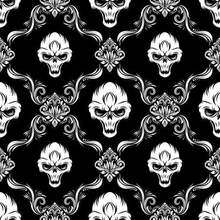 Skull Decorative Pattern  Illustration