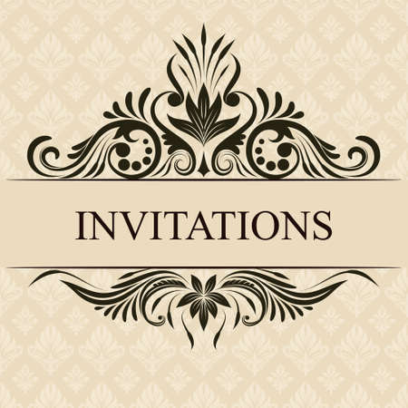 wedding invitation: Invitations Border