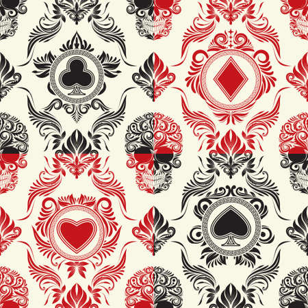playing card: Playing Card Pattern Set  Illustration