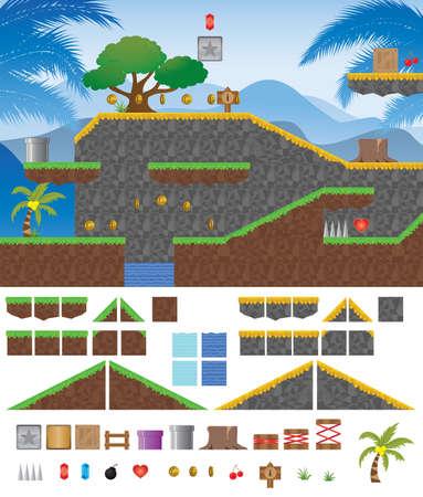 Platform Game Tropical