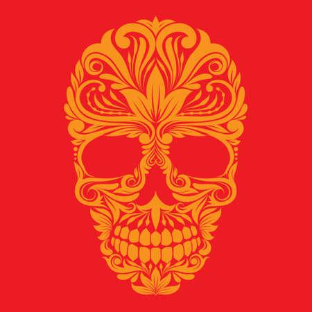 Sier Skull Stock Illustratie