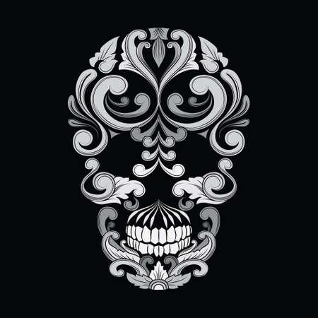 morto: Cr�nio Ornamental estilo indon�sio