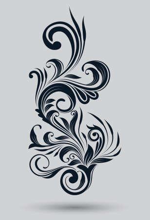 Single Floral Ornamnetal Ilustração
