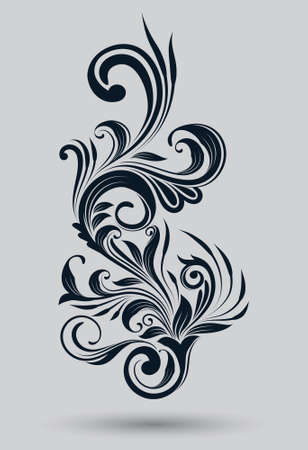 Single Floral Ornamnetal Illustration