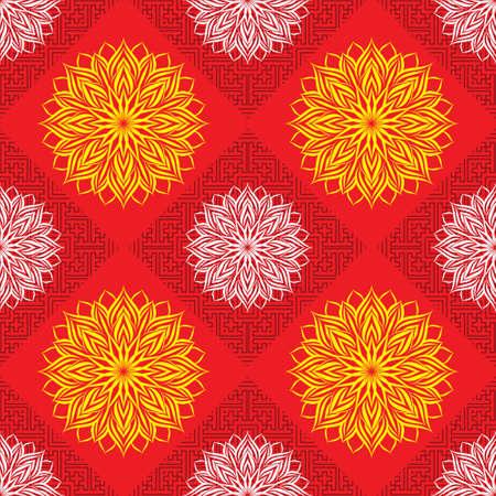Chinese Geometric Pattern Illustration