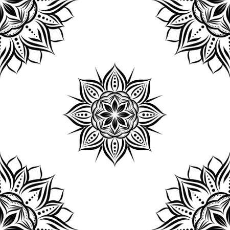 Sun Flower Geometric Pattern Illustration