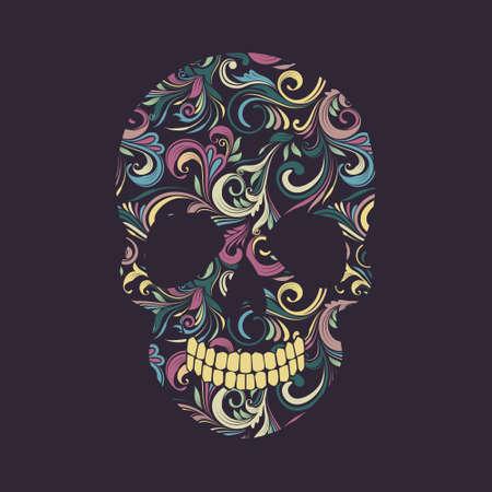 deaths head: Skull Swirl Ornamental