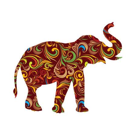 hoofed mammal: Red Elephant Ornamental