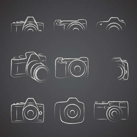 Camera Blackboard Illustration