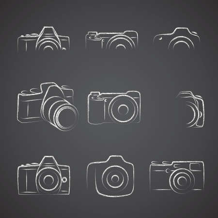 oldened: Camera Blackboard Illustration