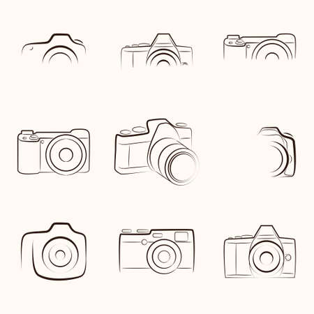 camera: Camera Outline Illustration