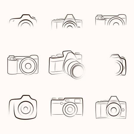 Outline Camera Archivio Fotografico - 33504252
