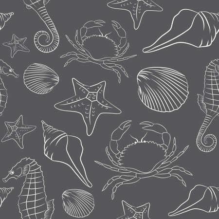 Sea Animal Gray pattern Illustration