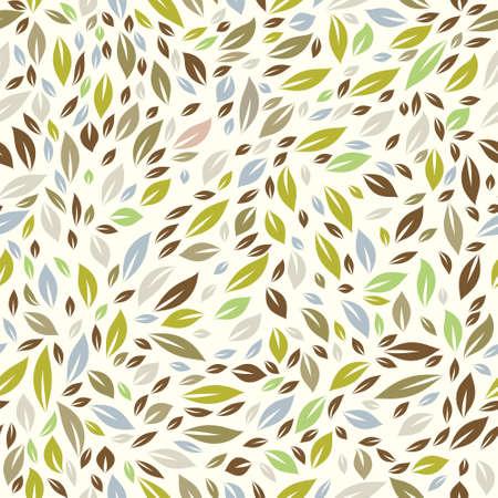Color Leaf Pattern Ilustração