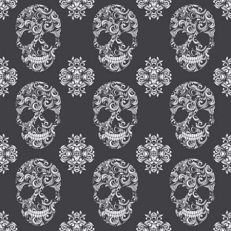 Schedel Vintage Patroon