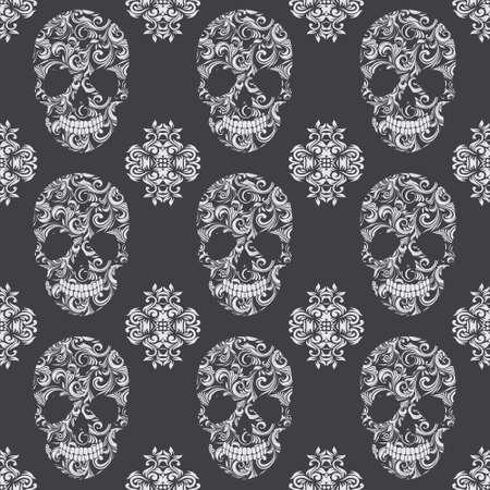 Skull Vintage Pattern