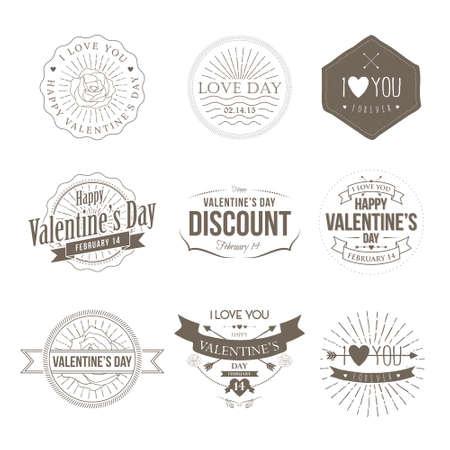 Badges Valentine Vintage