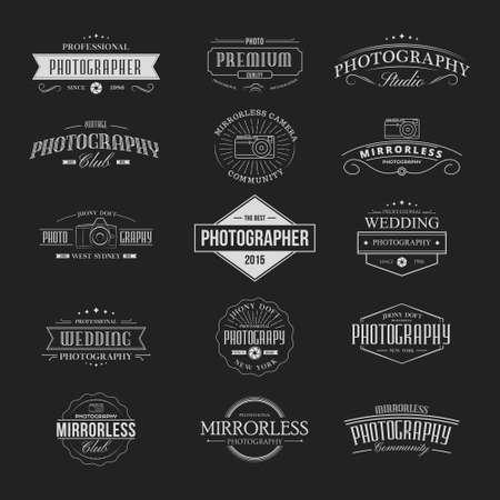 Vintage fotografie Banners