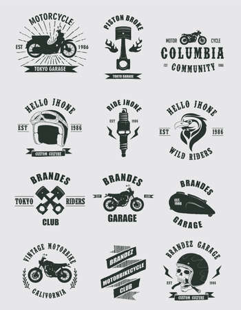 stickers: Badges Motorcycle Collections