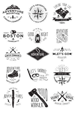 Hand Drawing Adventure Badges Collections